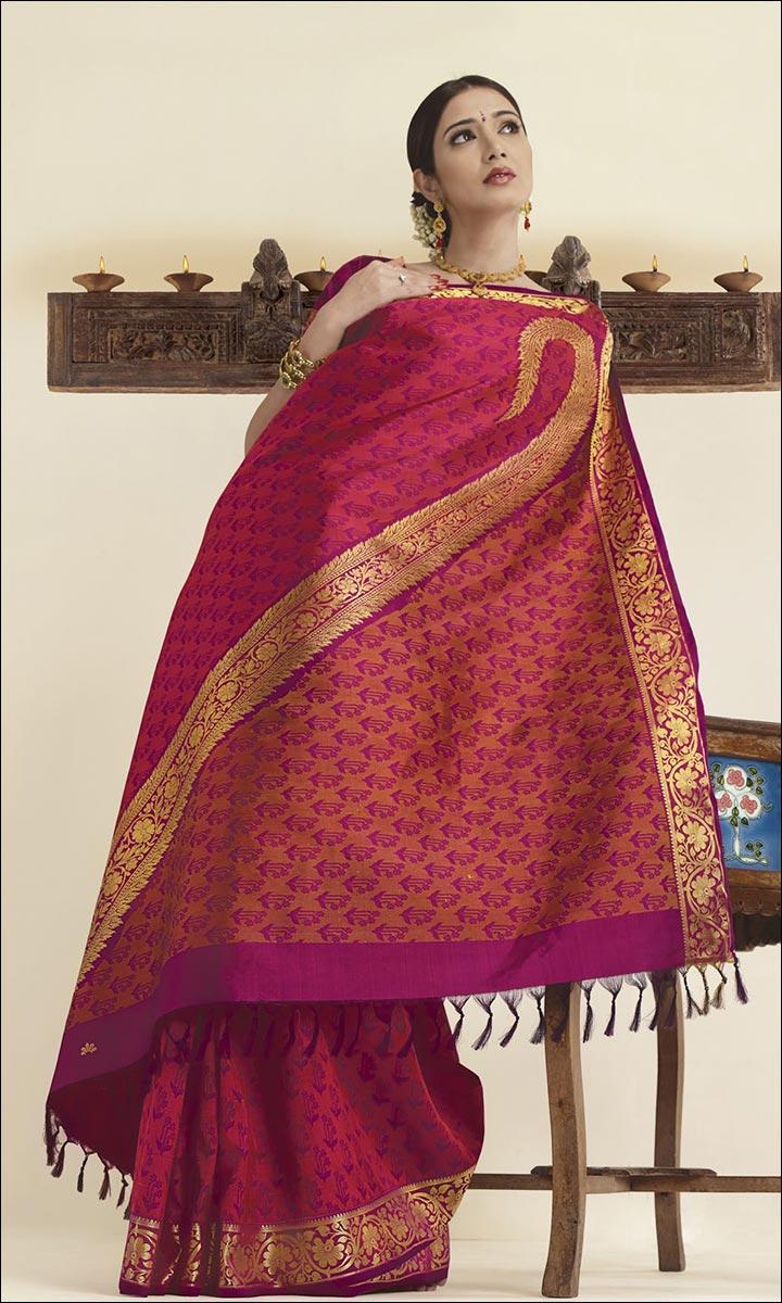 RMKV Bridal Sarees - Wedding Violet