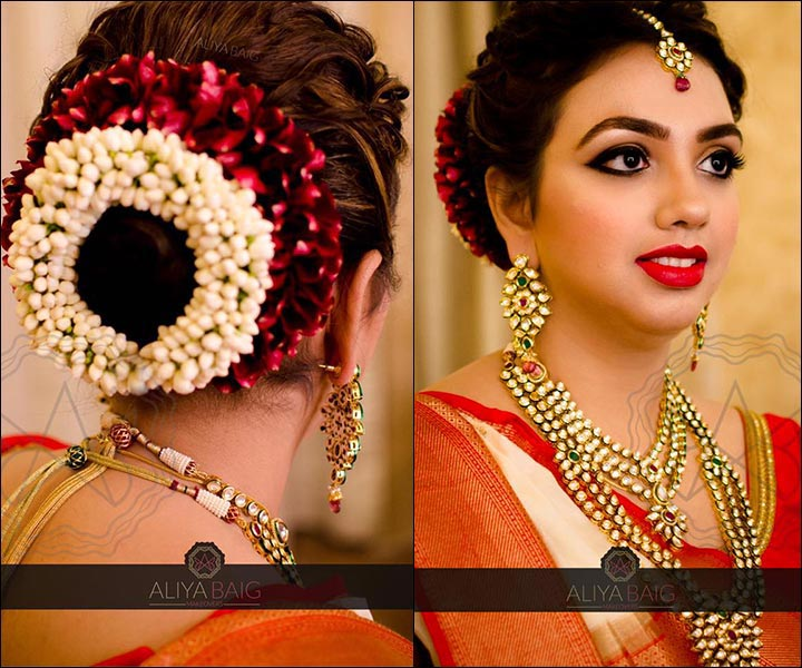 Indian Bridal Bun: Bridal Hairstyles: 38 Gorgeous Looks For This Wedding Season