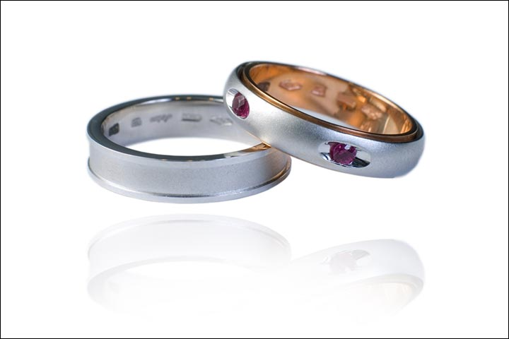 Wedding Rings - White Gold Ruby Wedding Ring