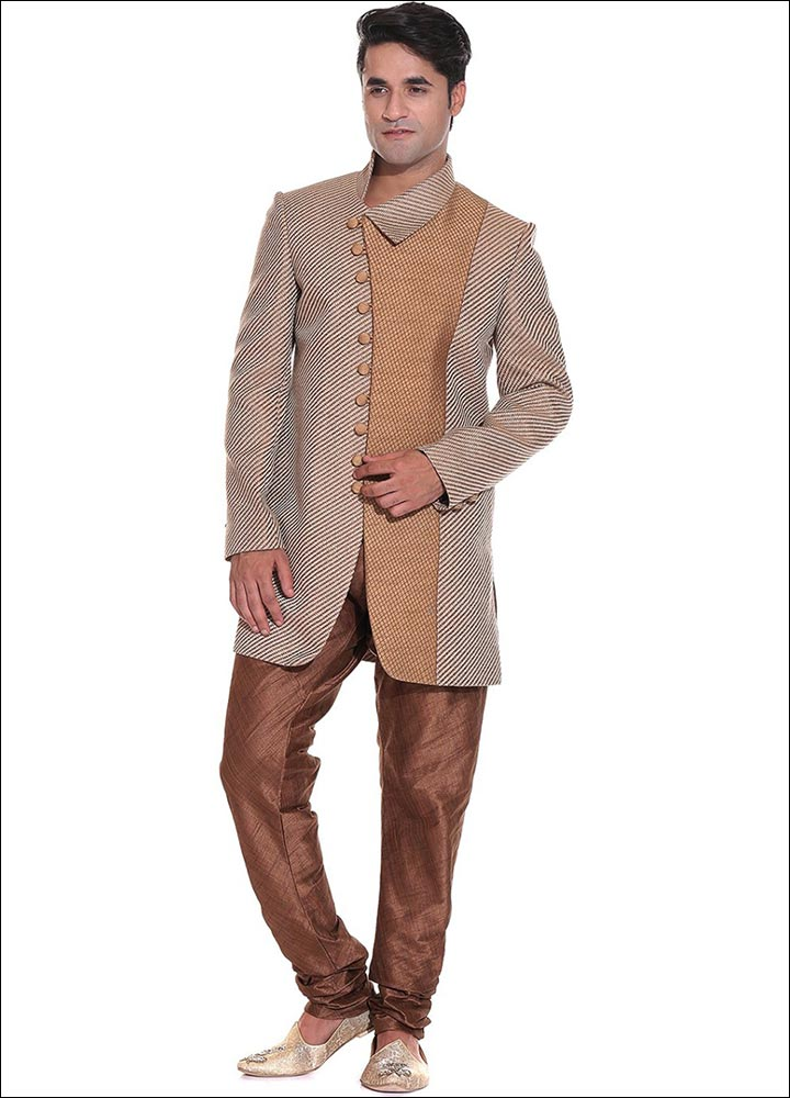 Indian Groom Dress Options - Woven Jute Sherwani