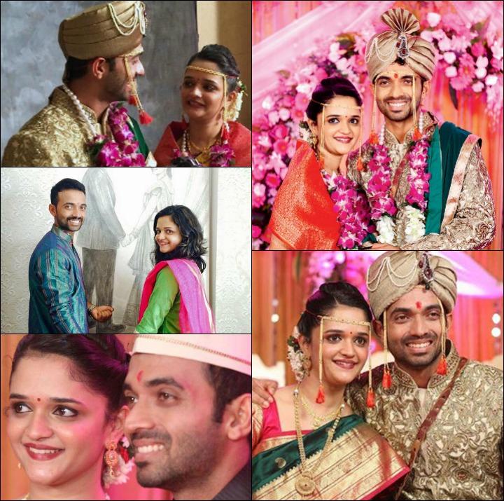 Ajinkya Rahane was marriage - Ajinkya Rahane, therefore Dopavkr Their Wedding and engagement with Radhika