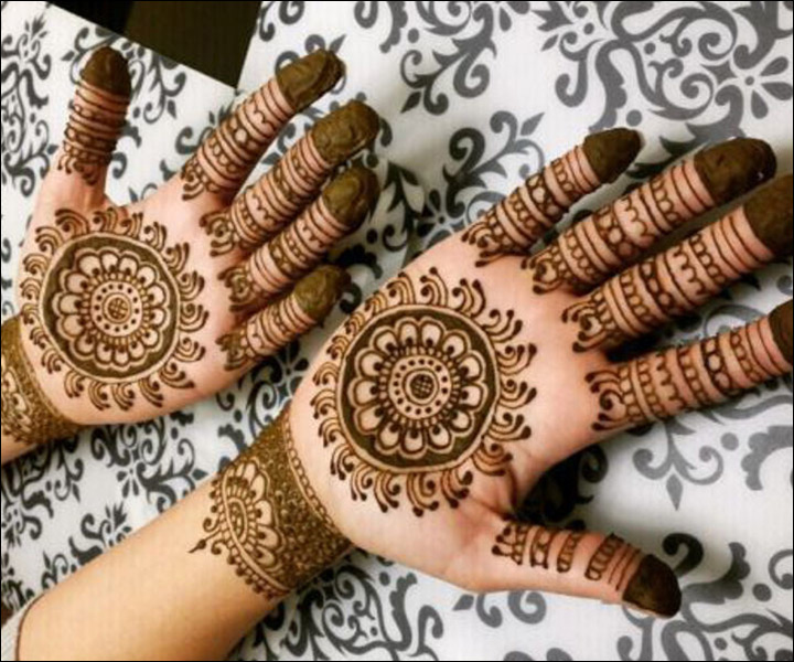 Front Hand Mehndi Designs - Easy And Simple Henna Designs ... |Simple Henna Palm Designs