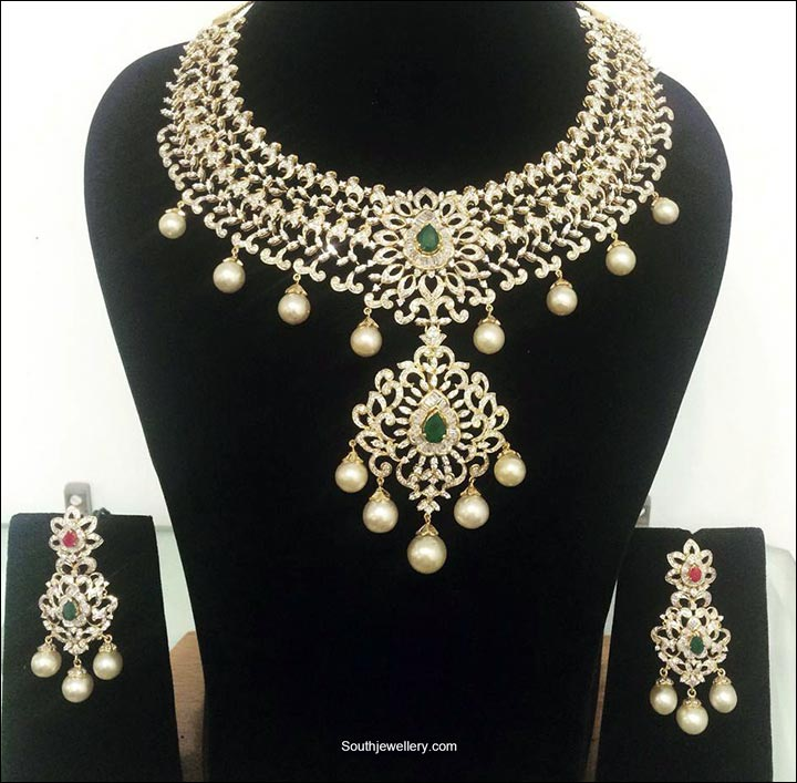 diamondsArtificial Bridal Jewellery Sets - Diamonds