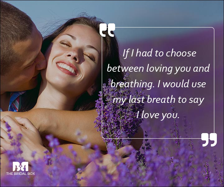 Emotional Love SMS Messages - If I Had To Choose