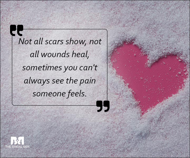 Emotional Love SMS Messages - HIdden Scars