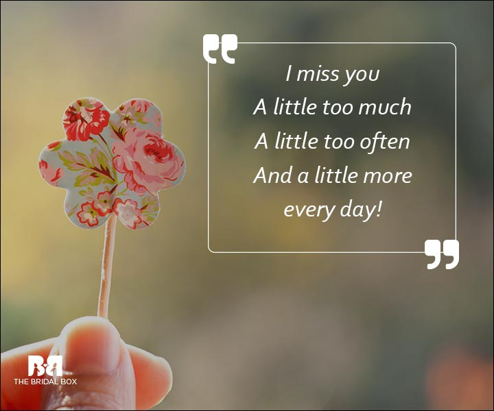 Emotional Love SMS Messages - I Miss You