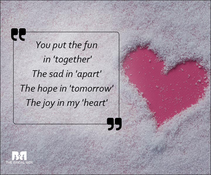 Emotional Love SMS Messages - You Put The Joy In My Heart