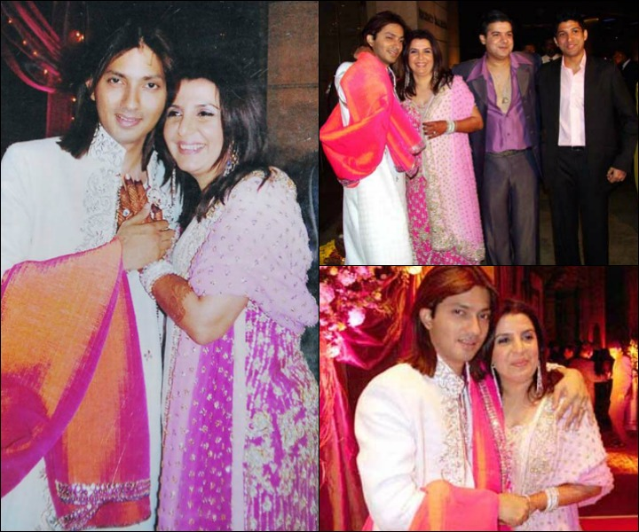Farah khan and shirish kuder wedding cakes