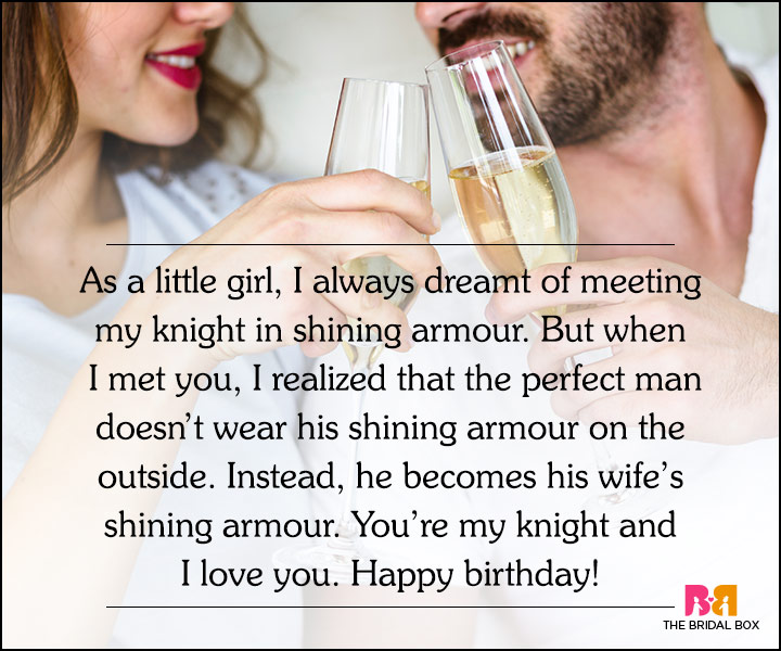 Love Quotes For Husband On His Birthday - My Knight In Armour