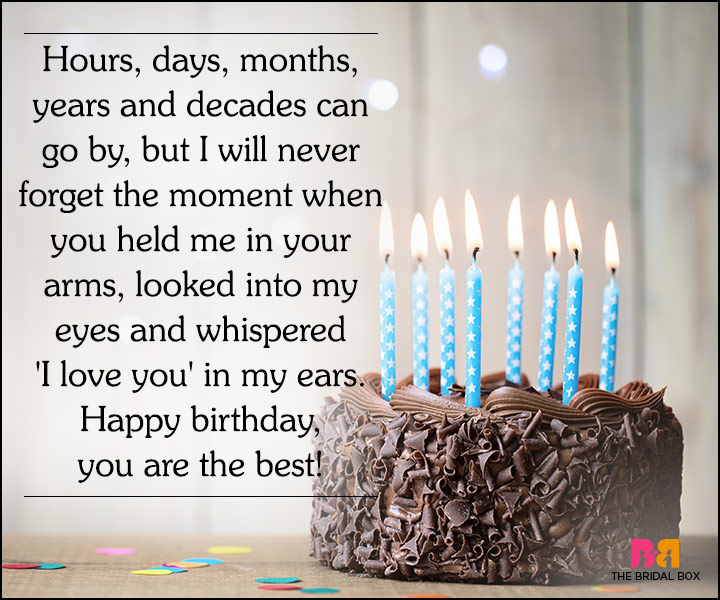 Love Quotes For Husband On His Birthday - I'll Never Forget Our Beginning