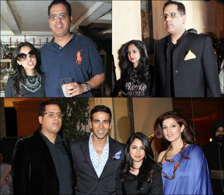 The Rinke Khanna Marriage - Rinke Khanna And Sameer Saran In Candid Shots With Family Members Twinkle And Akshay