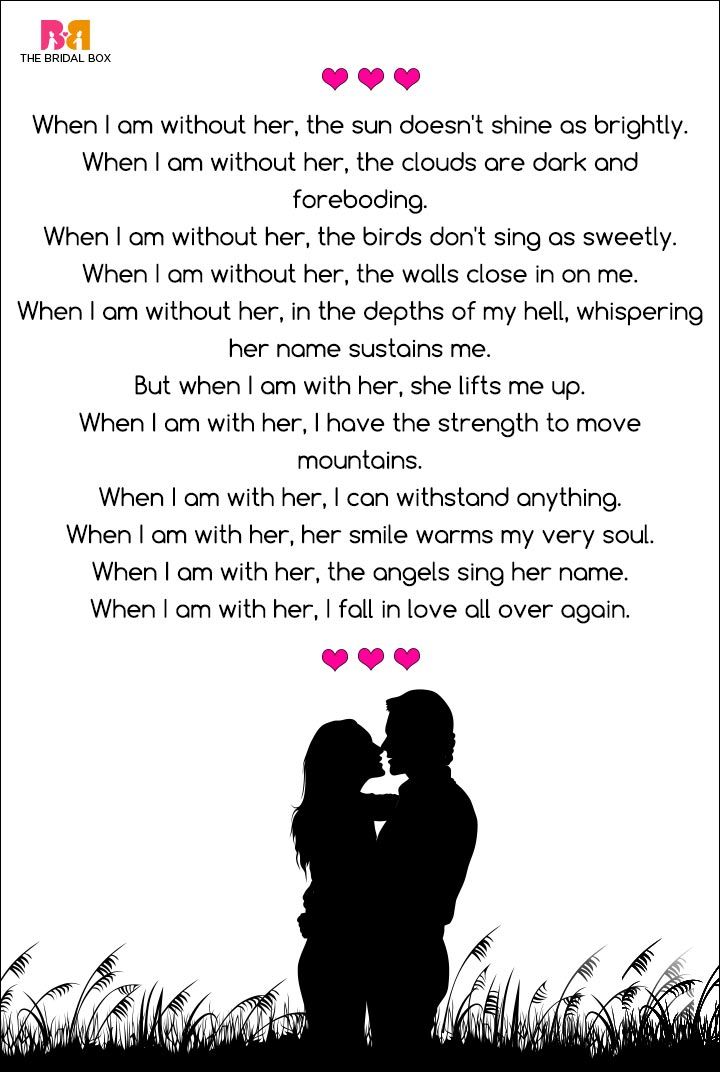 Romantic Love Poems For Her - When I Am With Her, Richard Giron