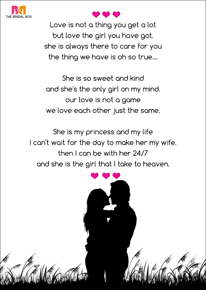 Romantic Love Poems For Her - My Love For You, Jaxs D