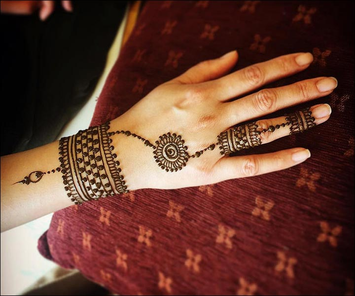 Western Mehndi Designs - The Cuff And Ring
