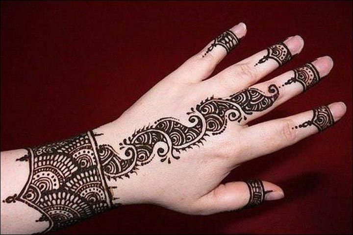 Western Mehndi Designs - The Cuff