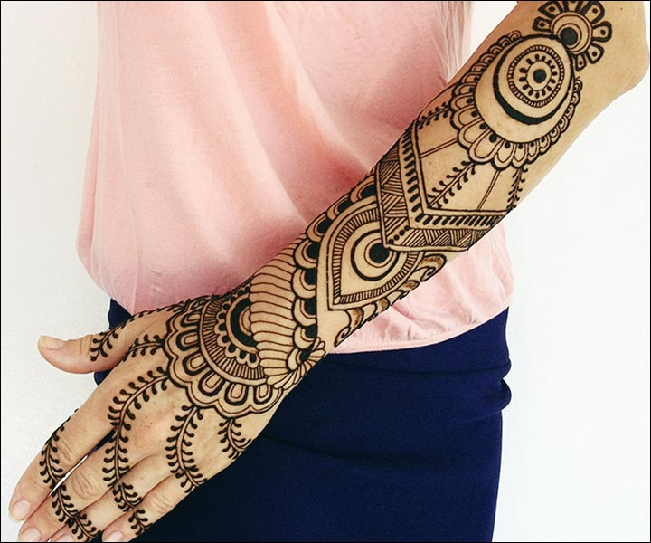 Simple Mehandi Designs - Tribal Theme