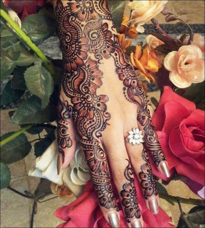 Pakistani Arabic Mehndi Designs - A Bouquet Of Beauty