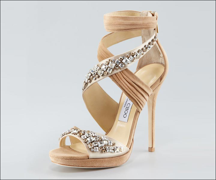 Jimmy Choo Wedding Shoes Bejewelled Ivory