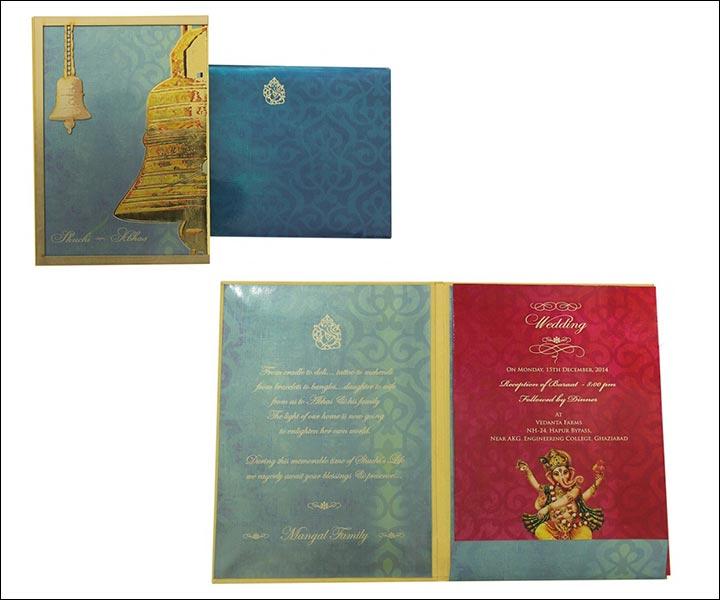 Designer Wedding Cards - Temple Bells Are Ringing