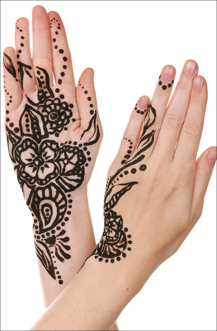 Mehndi Tattoo Designs - Black Is Back!