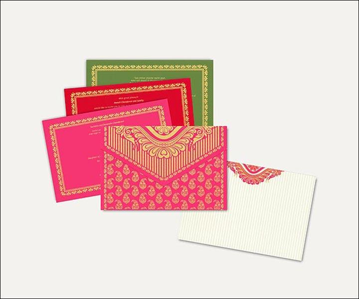 Designer Wedding Cards - Classy In Pink
