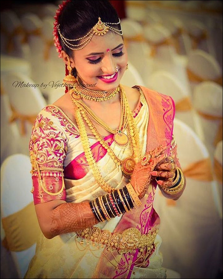 Indian Bridal Looks - Pink And Cream
