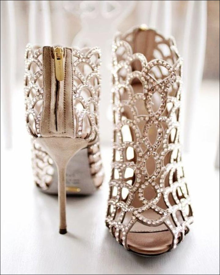 Jimmy Choo Wedding Shoes   Crystal Encased