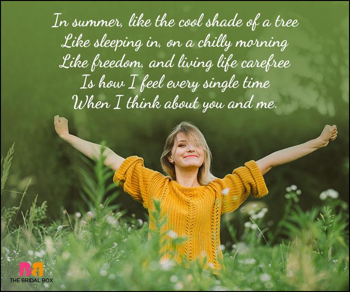 Cute Love Poems - Feels Like Freedom