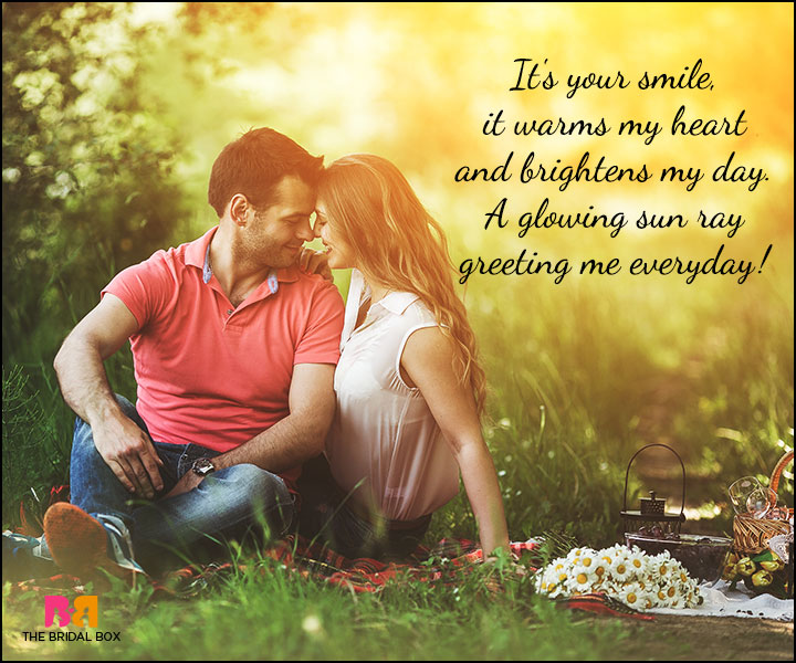 Cute Love Poems - A Glowing Ray Of The Sun