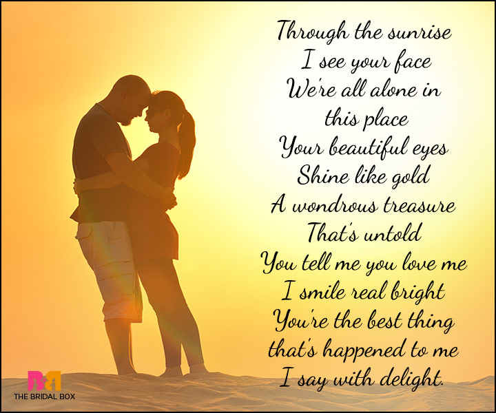 Cute Love Poems - Your Eyes Shine Like Gold