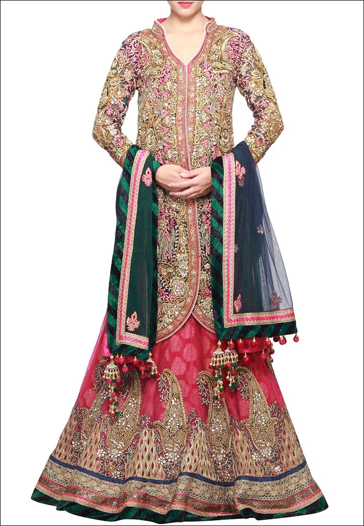 Lehenga For Engagement - Embroidered Lehenga