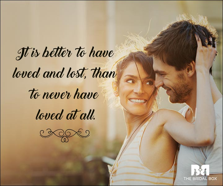 Emotional Love Quotes - Tis Better