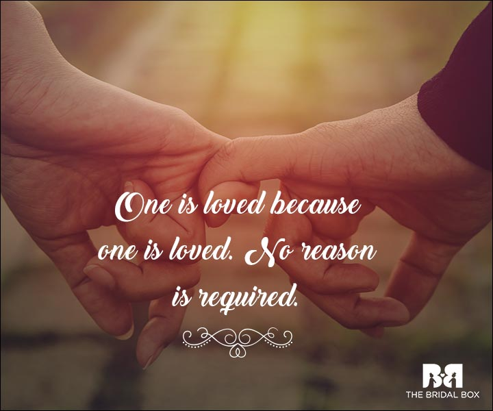 Emotional Love Quotes - One Is Loved