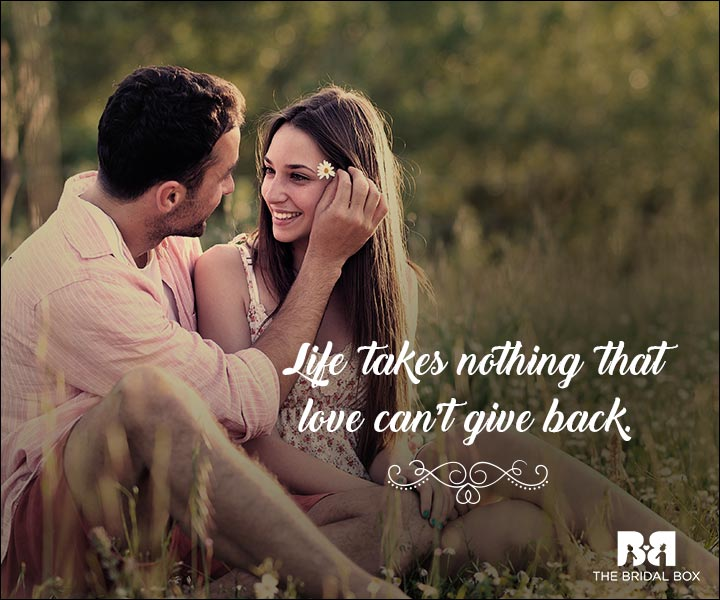Emotional Love Quotes - Love Balances Life