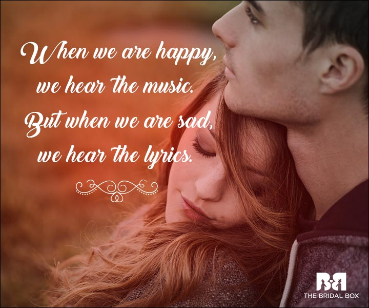 Emotional Love Quotes - Music And Lyrics