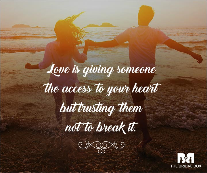 Emotional Love Quotes - Love Is Complete Trust