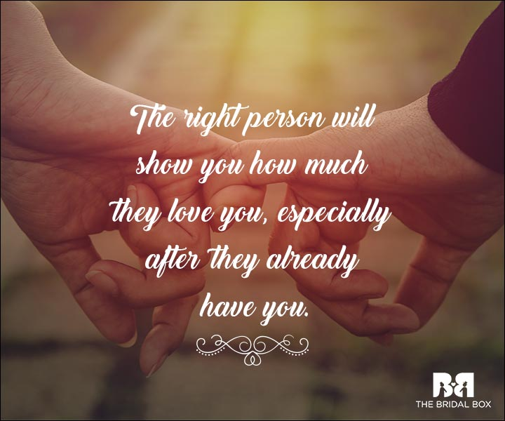 Emotional Love Quotes - The Right Person