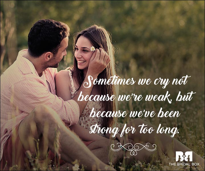 Emotional Love Quotes - Sometimes We Cry