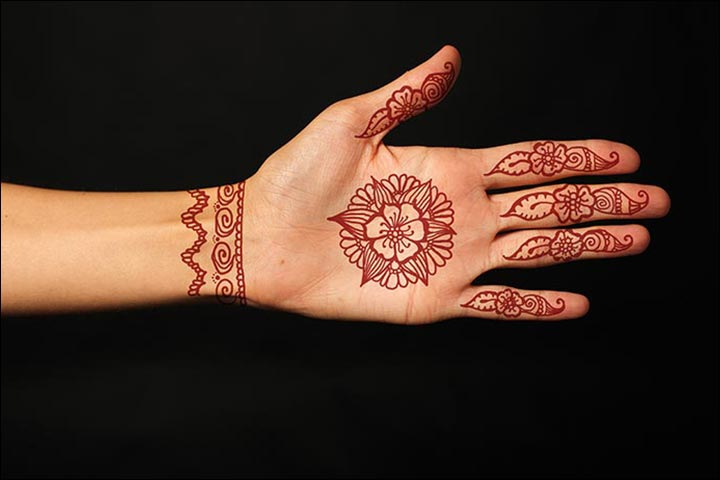 Circle Mehndi Designs - Exquisite Floral Circular Mehndi Design