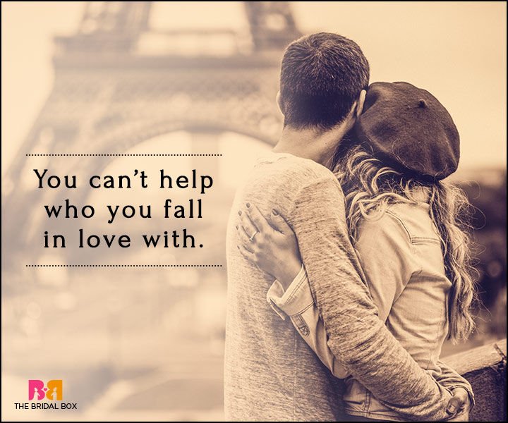 Falling In Love Quotes - You Can't Help It