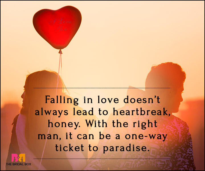 Falling In Love Quotes - A One-Way Ticket To Paradise