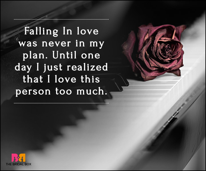 Falling In Love Quotes - I Just Love This Person Too Much