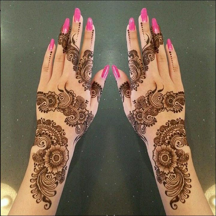 A New Decorating Trend For 2016: Unique Mehndi Designs : Be A Trendsetter With These 15 Designs