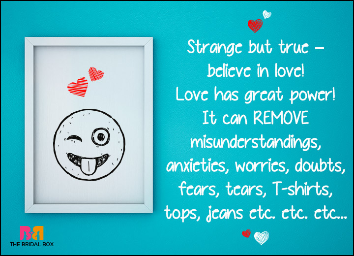 Funny Love SMS - Love Has Great Power