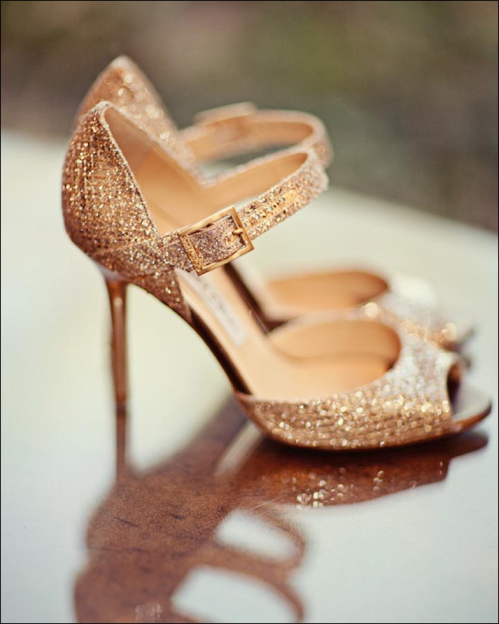 Jimmy Choo Wedding Shoes - Golden Cage