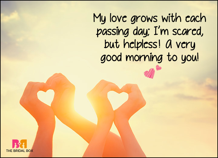 Good Morning Love SMS - Scared And Helpless