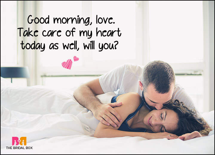 Good Morning Love SMS - Take Care Of My Heart