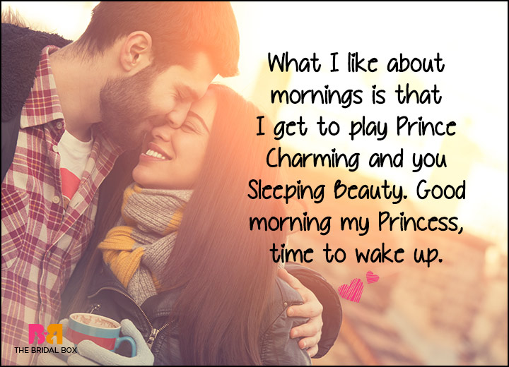 Good Morning Love SMS - Prince Charming And Sleeping Beauty