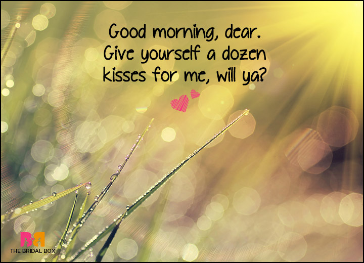 Good Morning Love SMS - A Dozen Kisses From Me