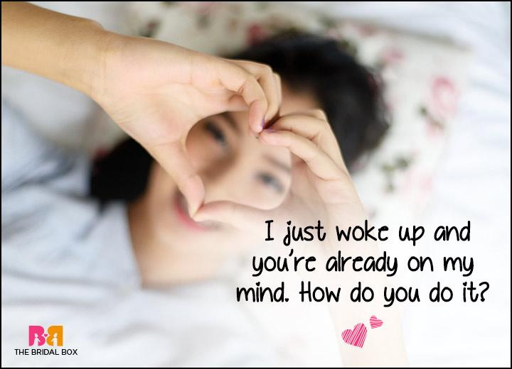 Good Morning Love SMS - On My Mind Already